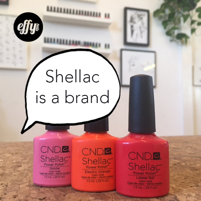 Shellac is a brand