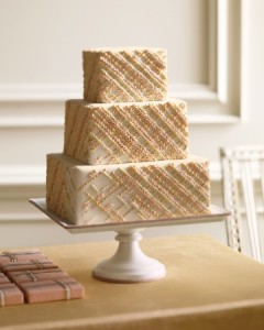 bronze lace effect wedding cake the wedding room nottingham