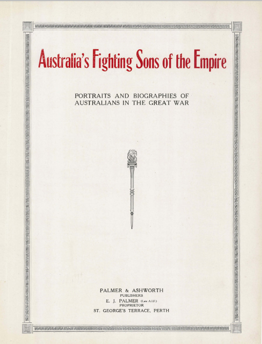 Australia's Fighting Sons of the Empire - Front Page.png