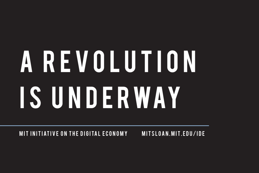 MIT INITIATIVE ON THE DIGITAL ECONOMY