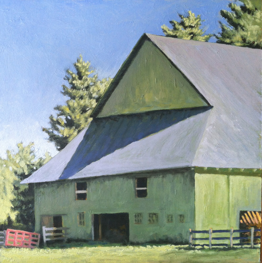 Mule Barn   11 x 11   Oil on Canvas (sold)