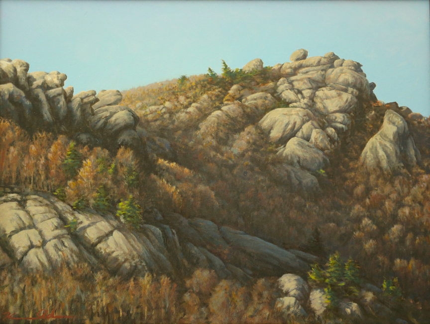 Morning Shadow on Old Rag   18 x 24   Oil on Canvas (sold)
