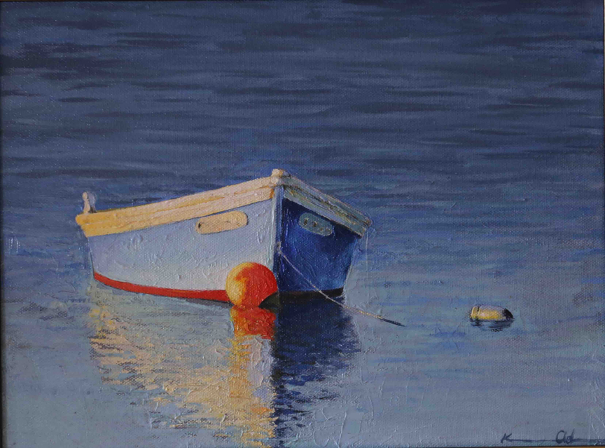 Blue Boat   9 x 12   Oil on Canvas (SOLD)