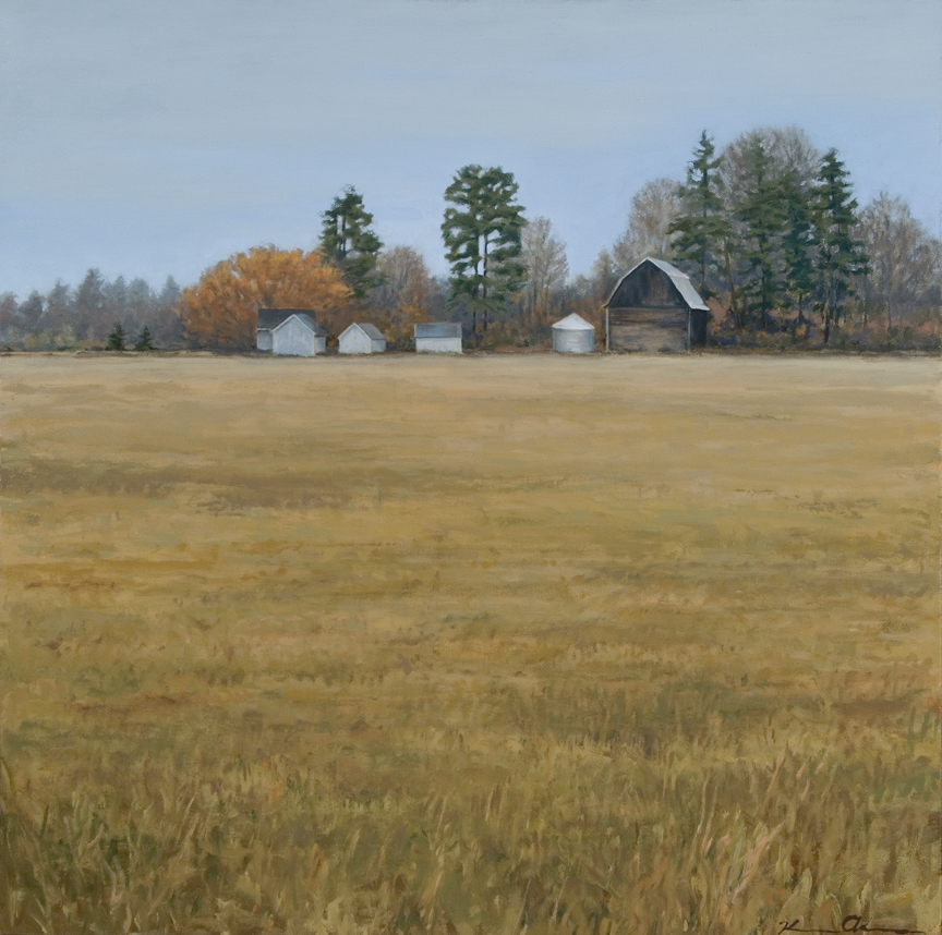 Montana Farm   24 x 24   Oil on Canvas (sold)