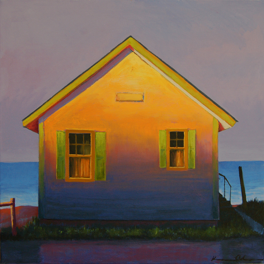 Flower Cottage, Early Light   20 x 20   Oil on Canvas (sold)