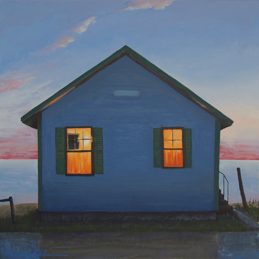 Flower Cottage III   20 x 20   Oil on Canvas (sold)