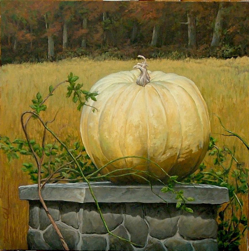 White Pumpkin   24 x 24   Oil on Canvas (sold)