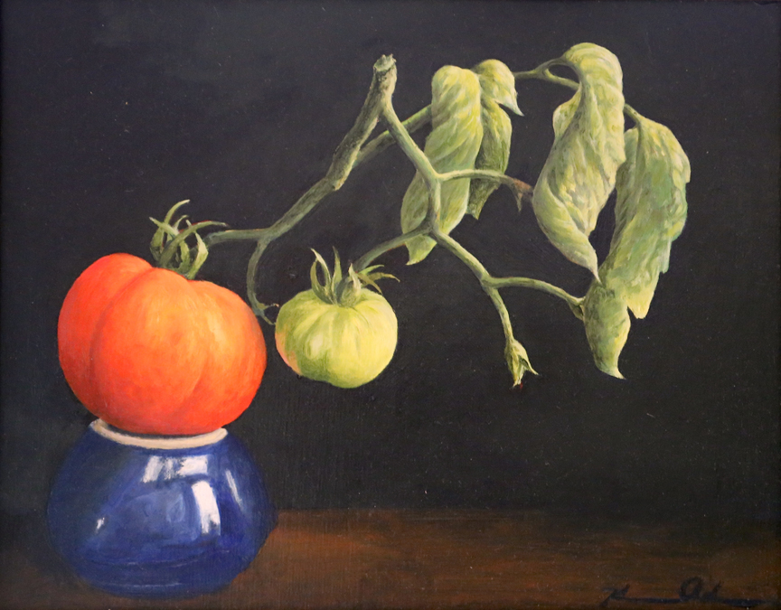 Tomatoes Red & Green   11 x 14   Oil on Canvas (sold)