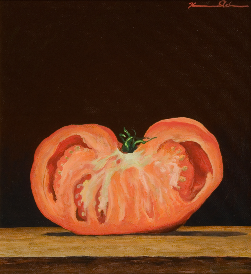 1/2 Tomato   10 x 11   Oil on Canvas (sold)