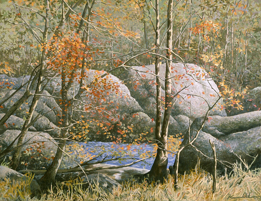 Along the Potomac River   48 x 60   Oil on Canvas