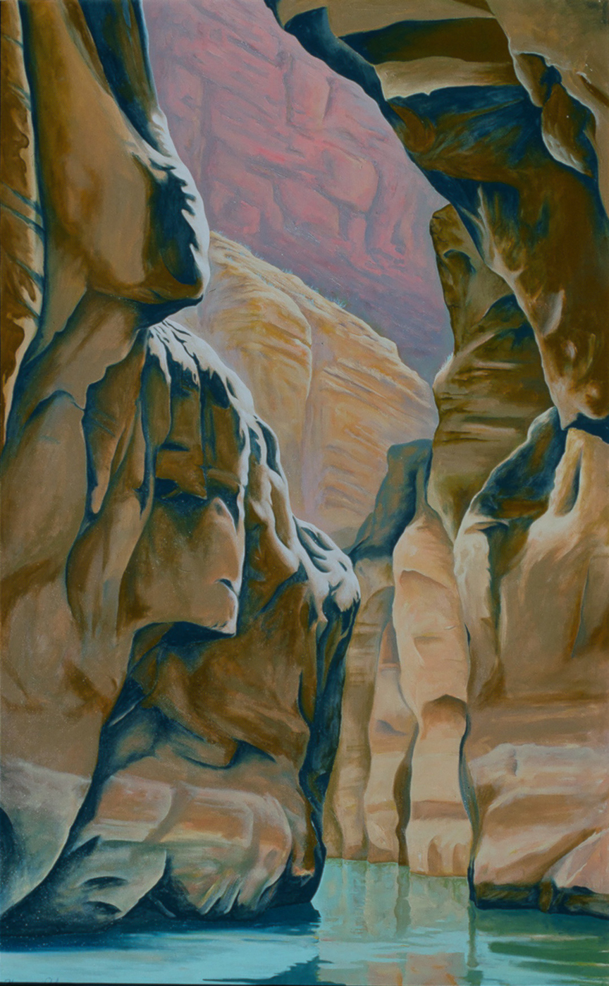 Havasue Canyon   48 x 60   Oil on Canvas