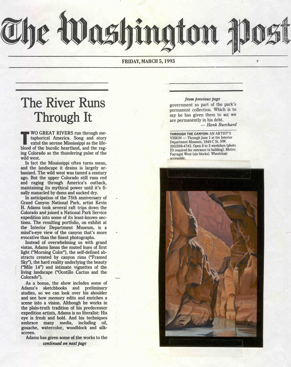 The Washington Post, March 1993