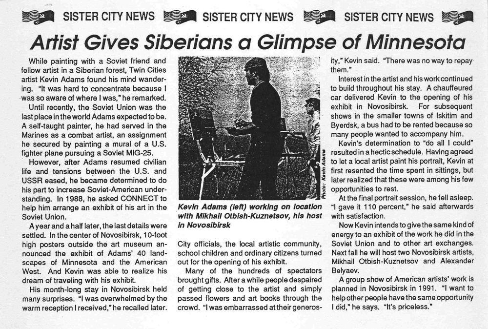 Sister City News, 1990 Russia