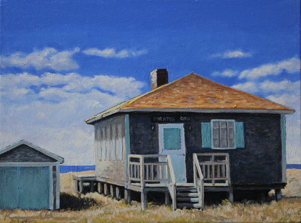 """Along 6A  8"""" X 10"""" oil on board SOLD"""
