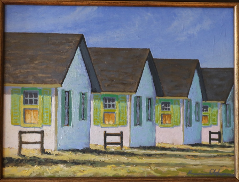 Flower Cottages: Morning  9 X 12  oil on panel (sold)
