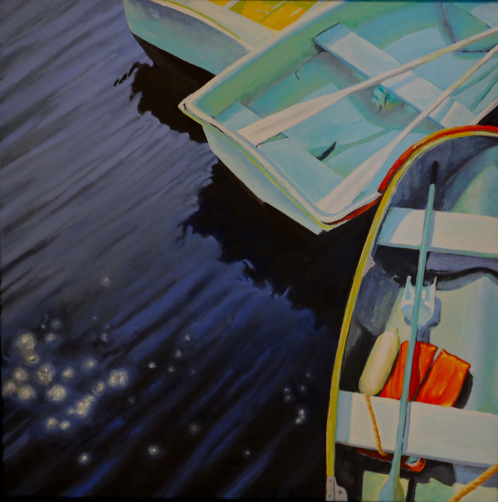 Dories 20 X 20 oil on canvas
