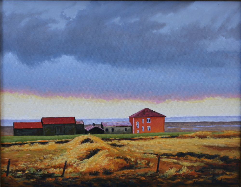 Farmhouse: Iceland 11 X 14 Oil on Canvas Board (sold)