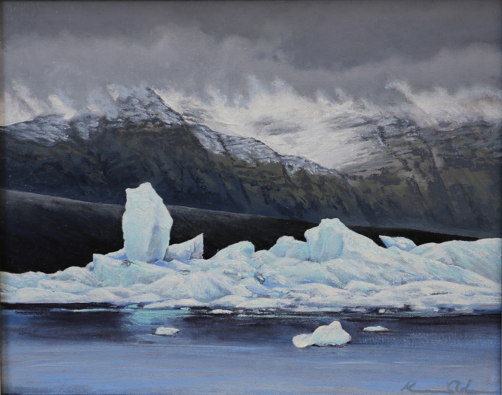 Jokulsarlon Color  11 X 14  oil on canvas board SOLD