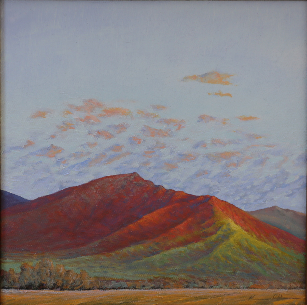 Spring Morning Light on Old Rag  12 X 12  oil on canvas  (SOLD)