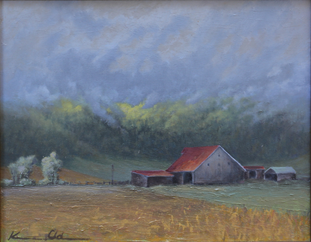 Ginger Hill Farm: After the Rain  9 X 12 oil on canvas panel  SOLD