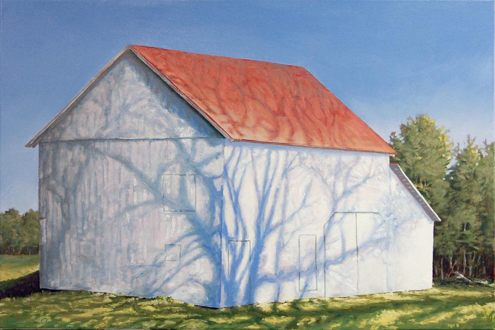 Barn Shadow 24 X 36 oil on canvas  SOLD