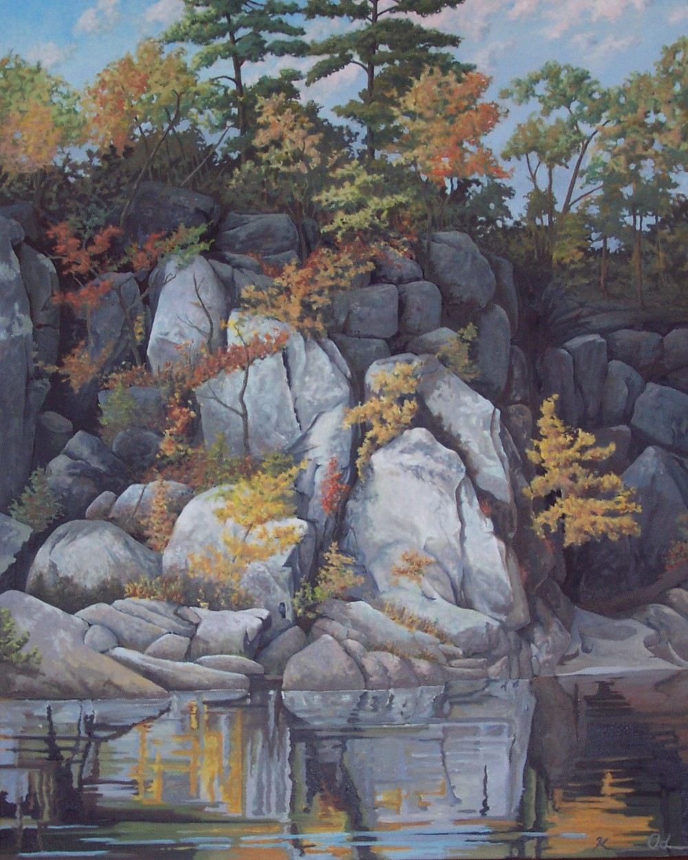 Great Falls 36 X 48 oil on canvas  SOLD