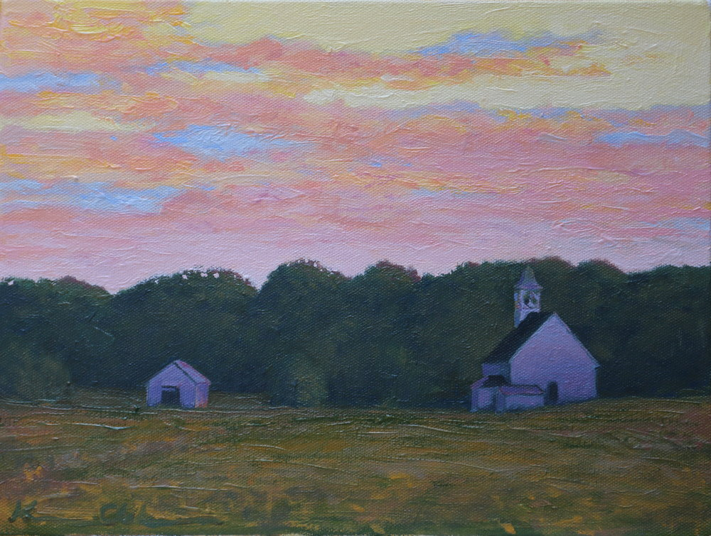 "Sunrise From Harris Hollow 8"" X 10""  SOLD"