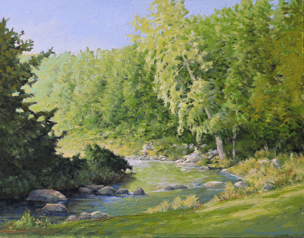 "Along the River 11"" X 14"""