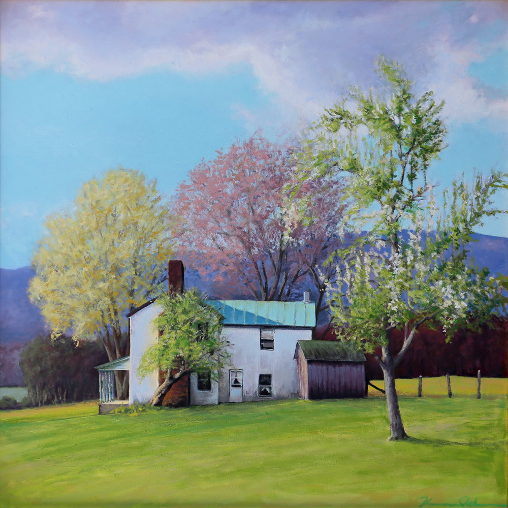 "Spring Color oil on canvas 24"" X 24"" (SOLD)"