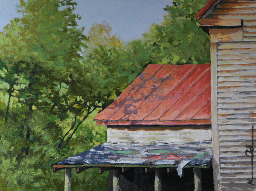 Warren House 9 X 12 oil on canvas sold