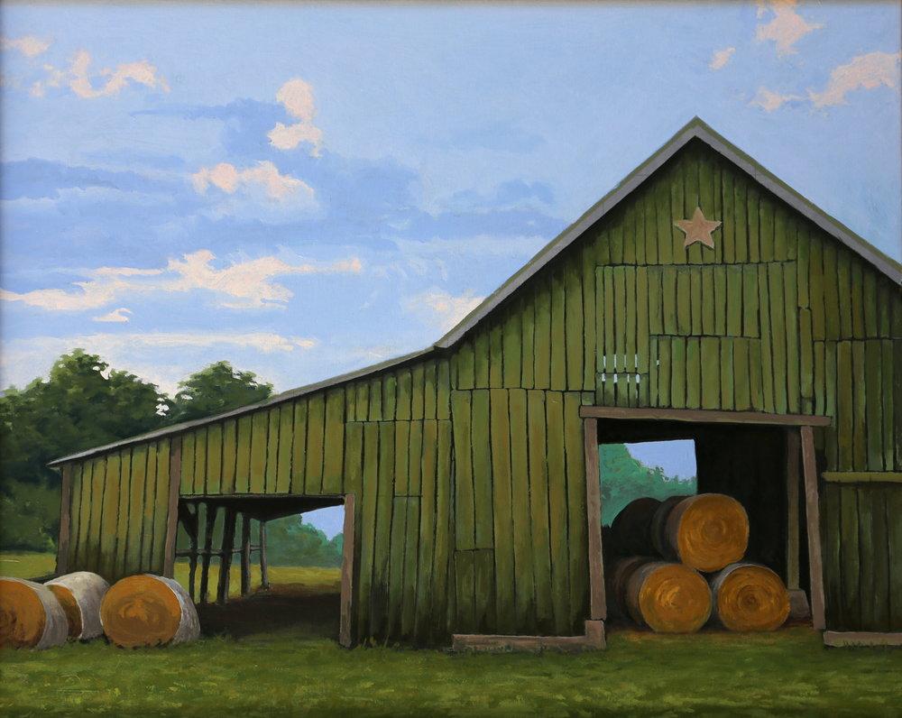 """Miller Barn 24"""" X 30"""" oil on canvas"""