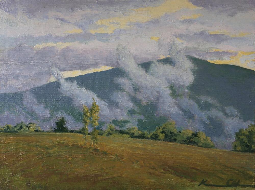 "Morning Mist 11"" X 14"" oil on canvas"