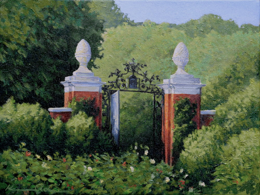 Dumbarton Oaks 8 X 10 oil on canvas
