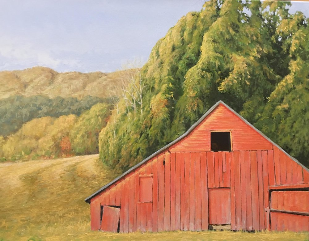 231 Fall Barn    24 X 30  oil on canvas