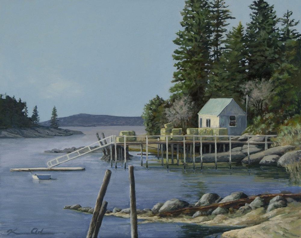 """""""Quiet Harbor"""" 18 X 24 OOC (sold)"""
