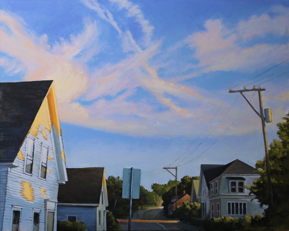 Sky Over Bradford 24 X 30 oil on canvas