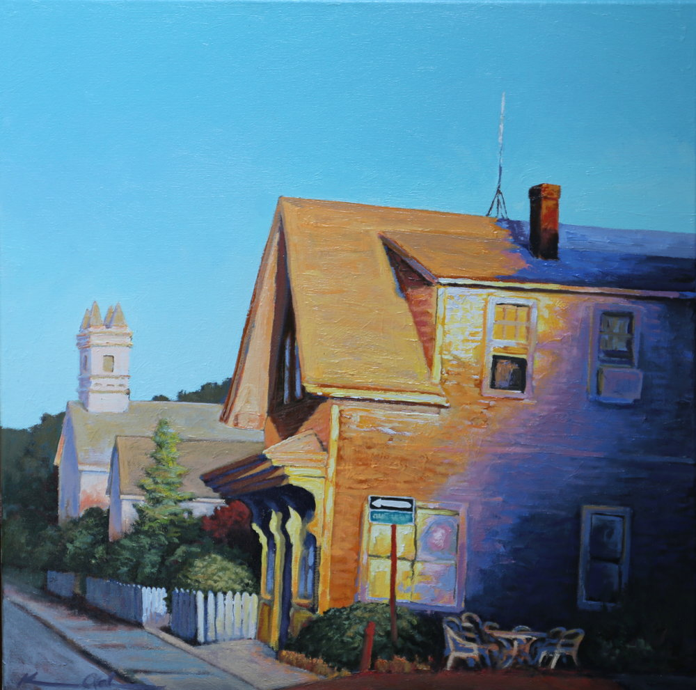 East End Morning 24 X 24 oil on canvas