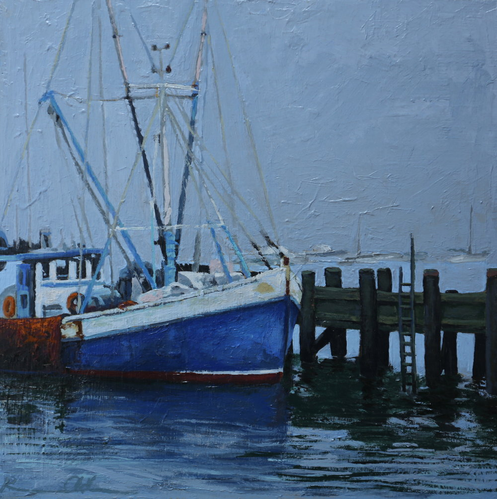 PTown Harbor 12 X 12 oil on panel
