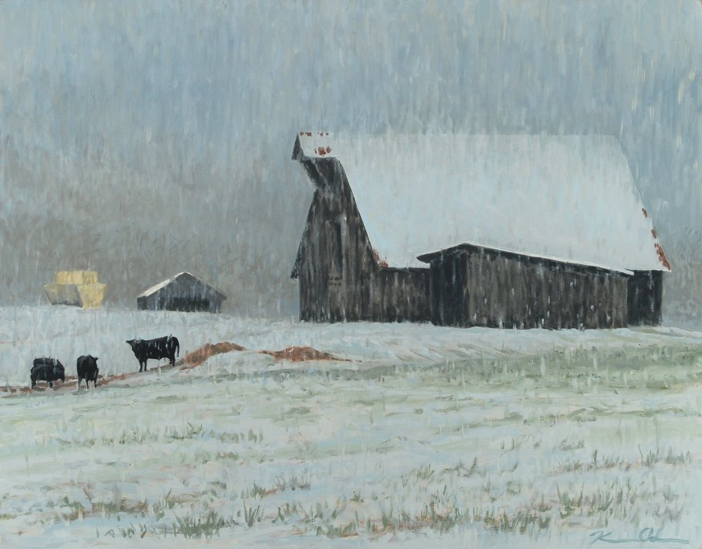 Heavy Snow 24 X 30 oil on canvas (SOLD)
