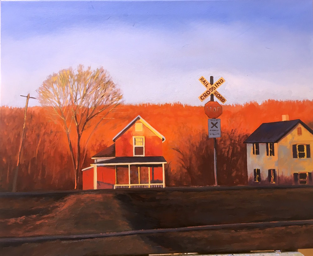 Across the Tracks 24 X 30 oil on canvas  (SOLD)