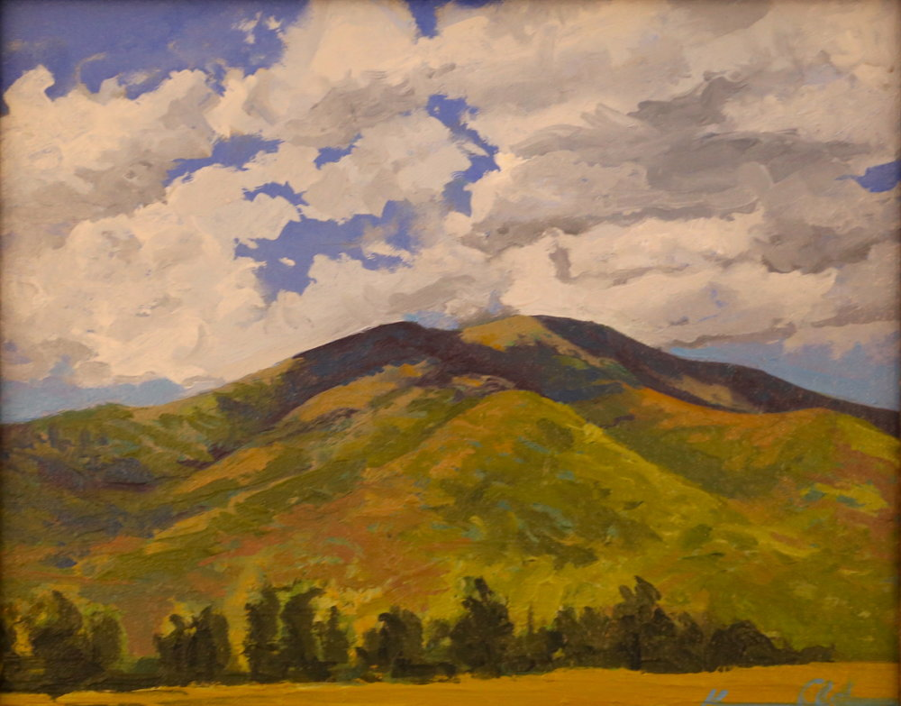 The Peak: Mnt. Marshall  8 X 10 oil on panel