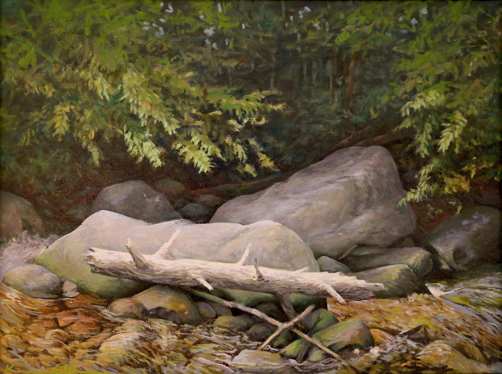 Rapidan Camp: Rapidan River 18 X 24 oil on canvas