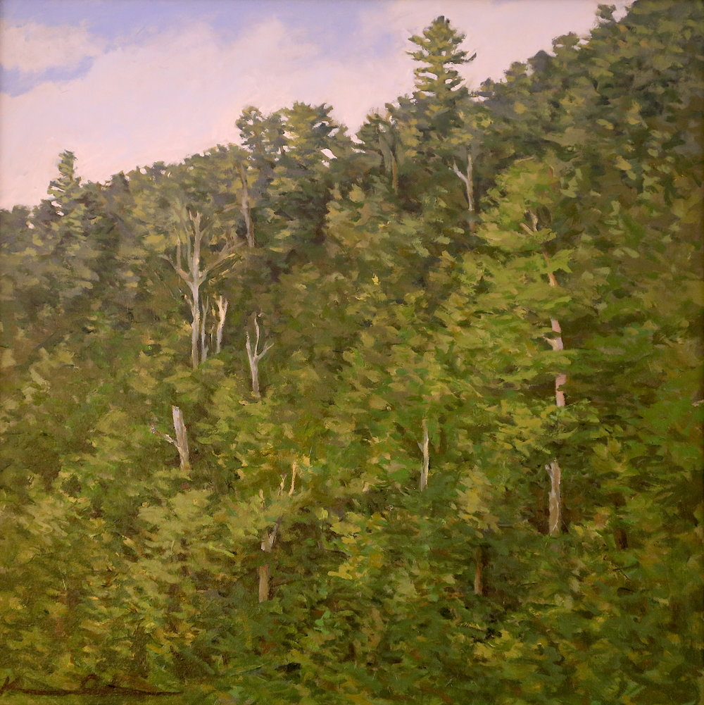 East Facing Ridge  20 X 20 oil on canvas