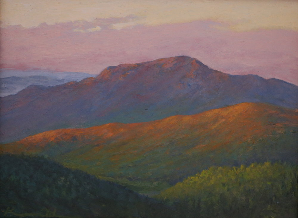 Old Rag in Morning Light 9 X 12 oil on panel
