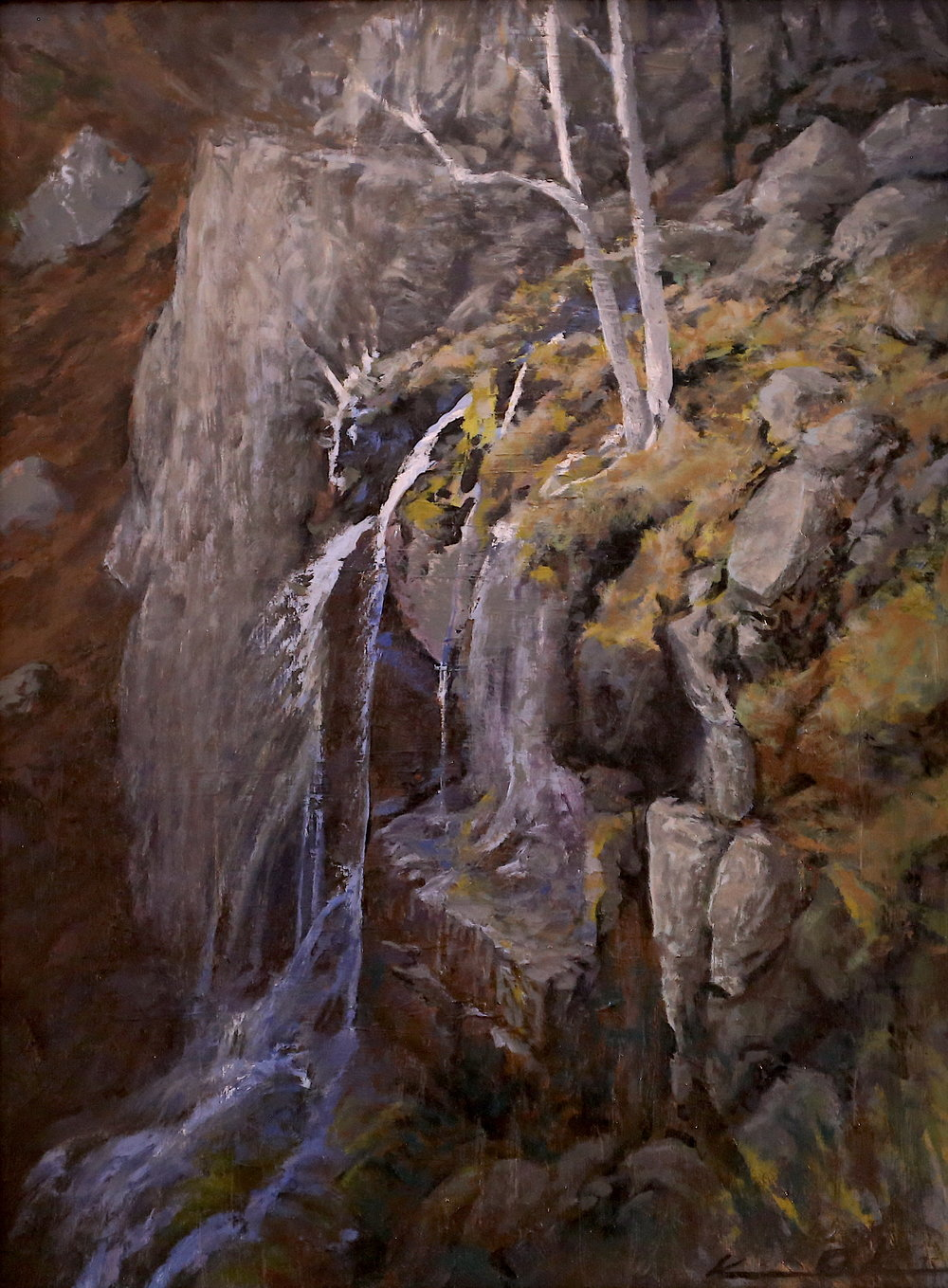 Lewis Falls  12 X 16  oil on panel