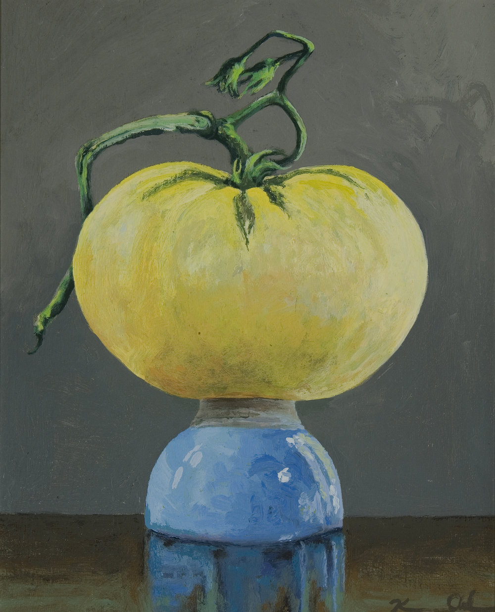 "( Yellow w/ Stem )  8"" X 10""  oil on panel  (SOLD)"