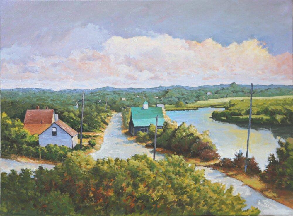 Pilgram Pond 18 X 24 oil on canvas