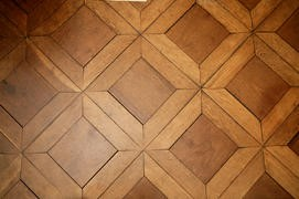 Parquet flooring at Monticello.