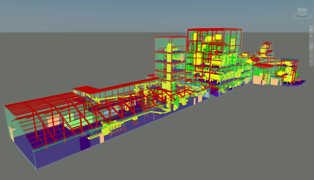 CAD Model of Processing Line.