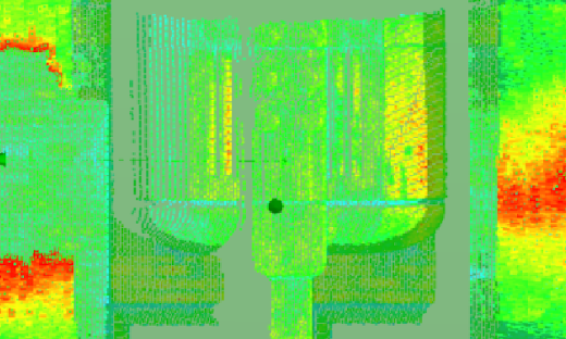3DIS detected surface anomalies on a historic building through 3D laser scanning.